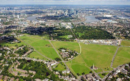 Aerial shot of Blackheath Common